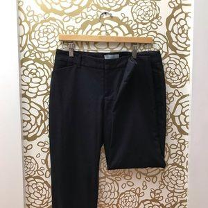 ✨ Gap Slim Cropped Blue Black Houndstooth Pant